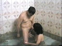 Начальник с любовницей отдыхают в сауне