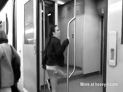 Lesbian Cunnilingus On Train Ride
